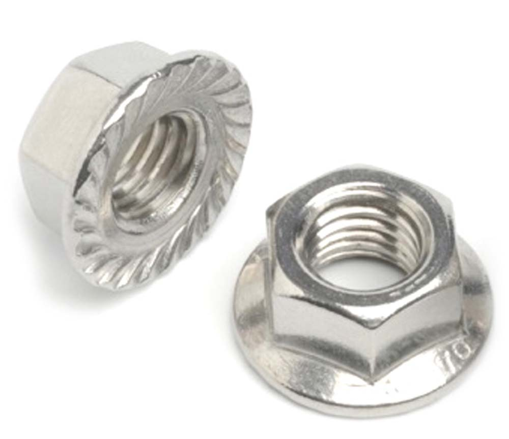 Steel Hex Flange Serrated Nuts