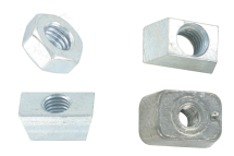 Rib deck wedge nut