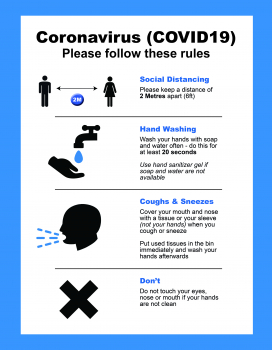 GOOD PRACTICE INSTRUCTION POSTER BLUE NON ADHESIVE A2