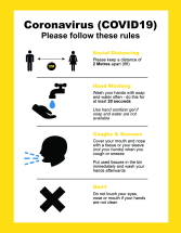 GOOD PRACTICE INSTRUCTION A4 POSTER REMOVABLE ADH. YELLOW