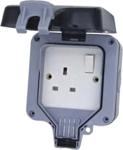 1 GANG 13AMP DOUBLE POLE IP66 SWITCHED WEATHERPROOF SOCKET