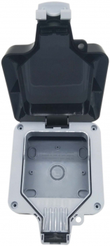 EMPTY SINGLE ENCLOSURE IP66 WEATHERPROOF HOUSING UNIT