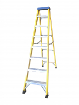 8 TREAD FIBREGLASS STEP LADDER