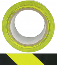 HAZARD TAPE YELLOW / BLACK- ADHESIVE