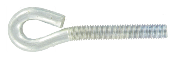 M6 X 80 FOLDED EYE BOLT BZP
