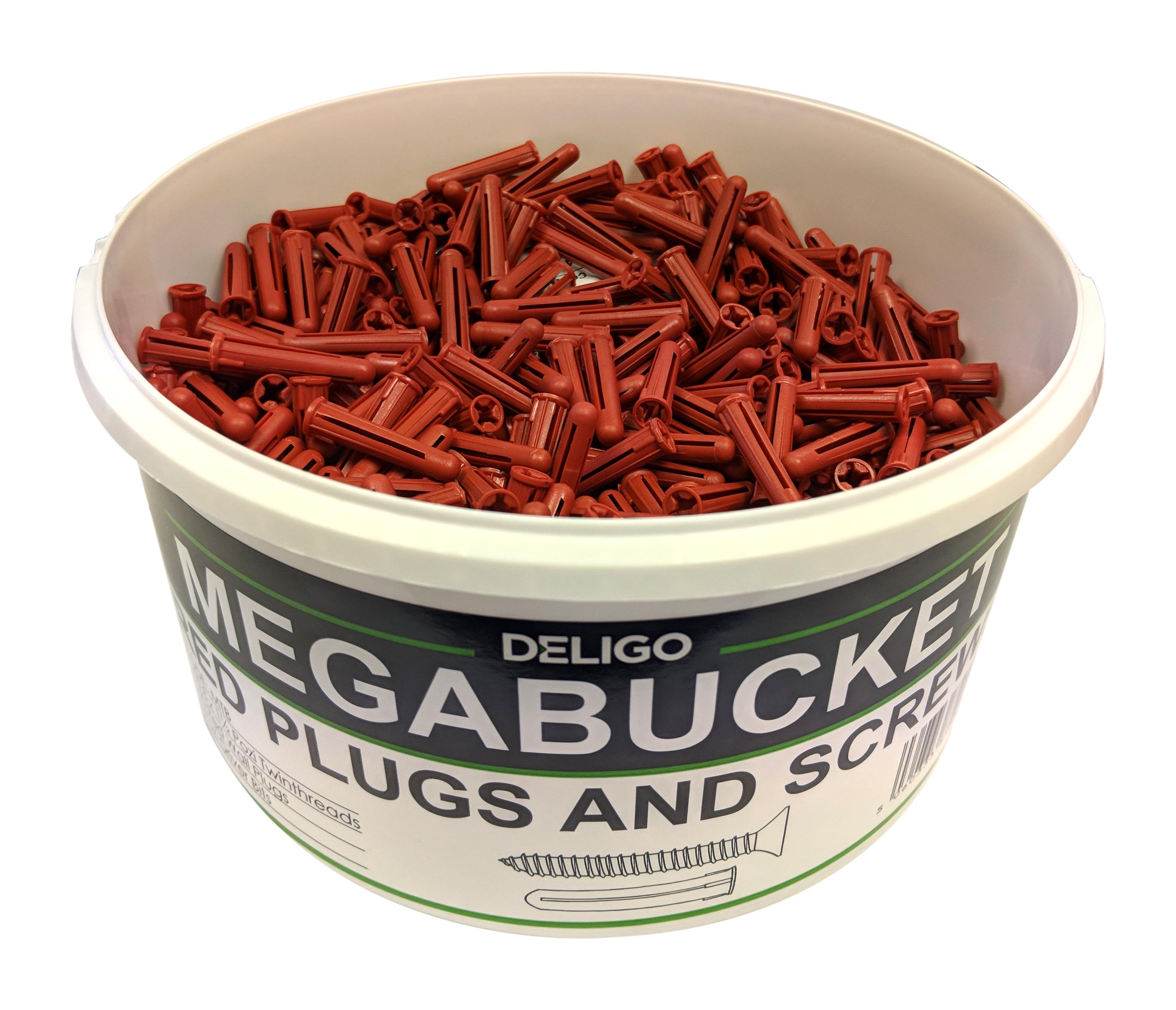 RED PLUGS & SCREWS MEGA BUCKET