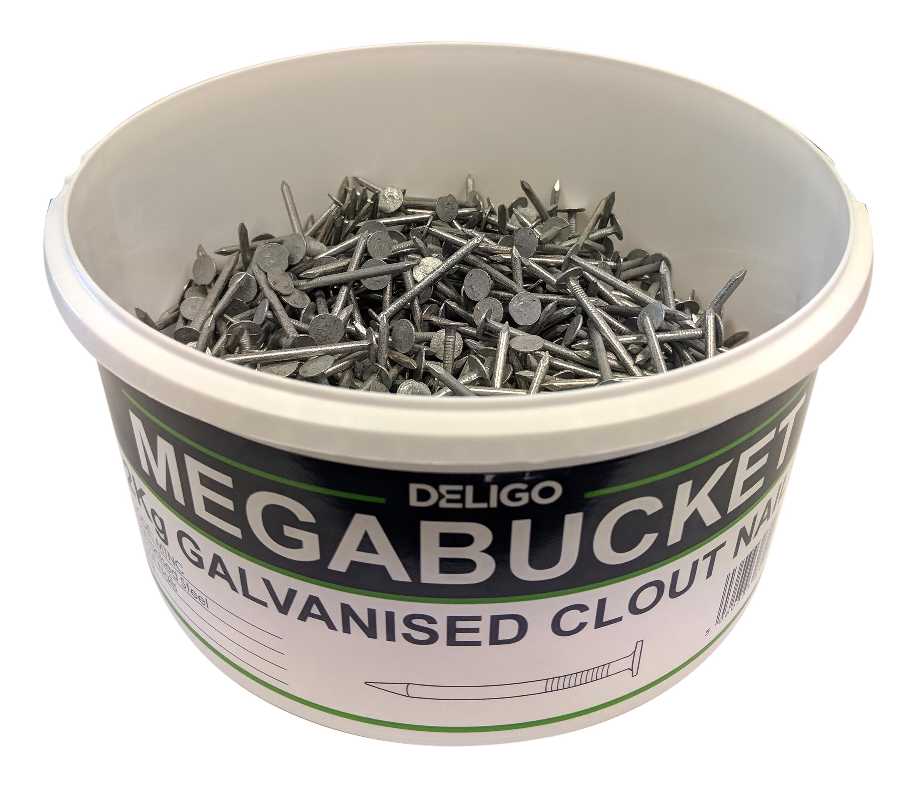 MEGA BUCKET 2KG - 40MM CLOUT NAILS