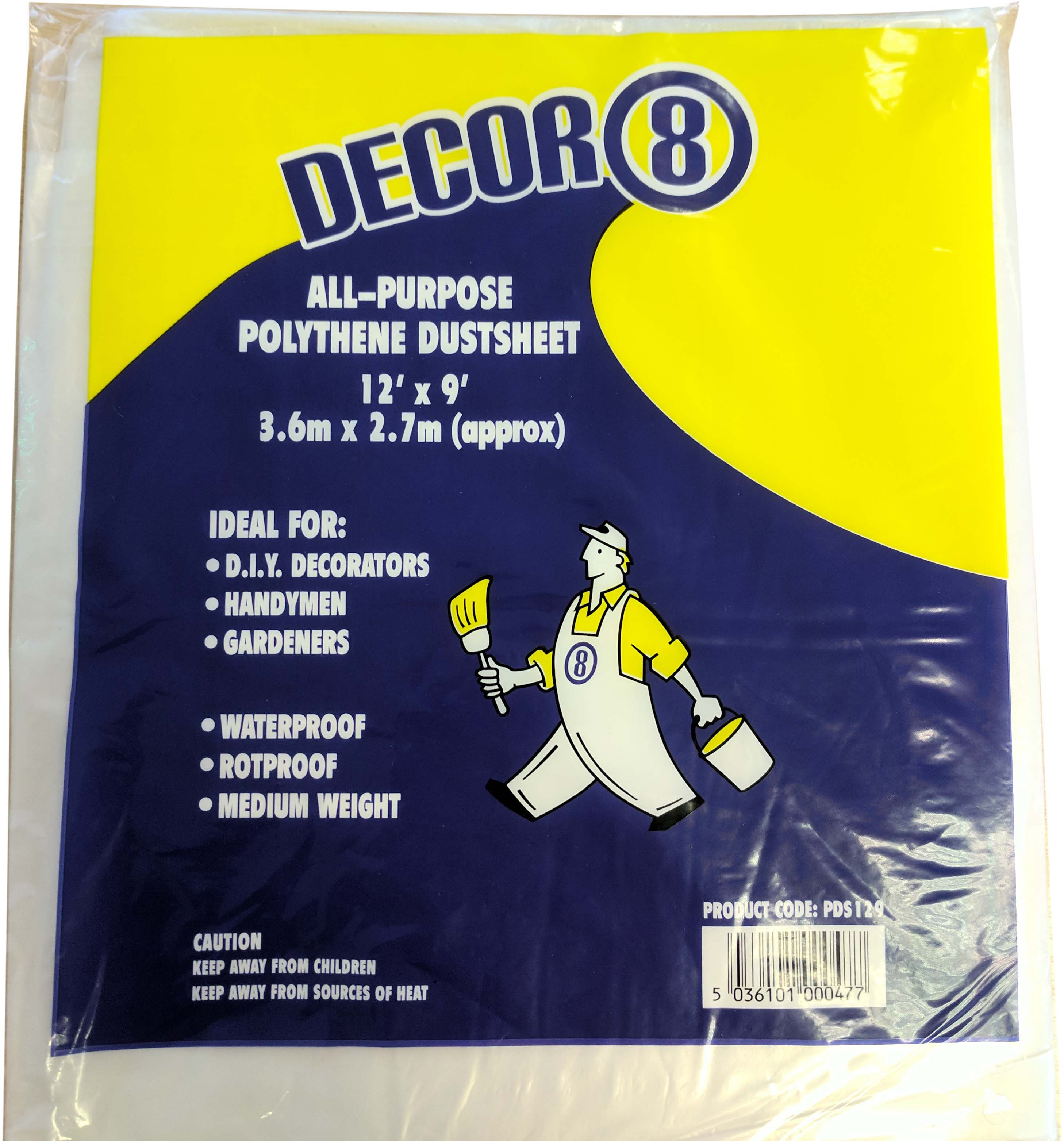 POLYTHENE DUST SHEETS 12' X 9' PACK OF 20