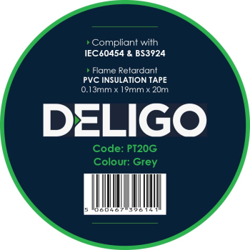20 METRE GREY PVC INSULATION TAPE