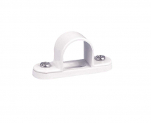 25mm STEEL SPACER BAR SADDLES WHITE PVC