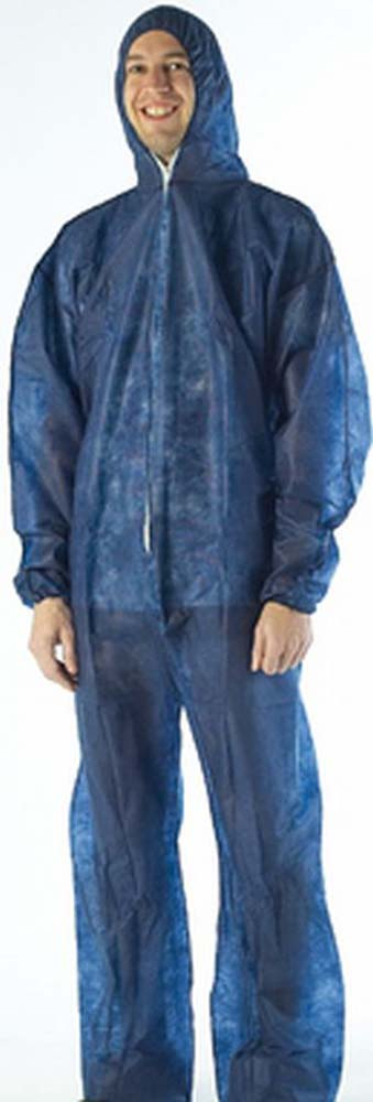 DISPOSABLE OVERALL LRG POLY PROP BLUE