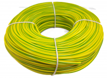 4mm x 100m Green/Yellow Sleeving