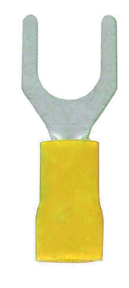 FORK TERMINAL YELLOW 4.3 STUD WT32