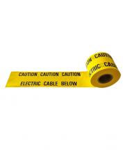 WARNING TAPE 150MM X 365MTR CABLE BELOW/CAUTION ELECTRIC