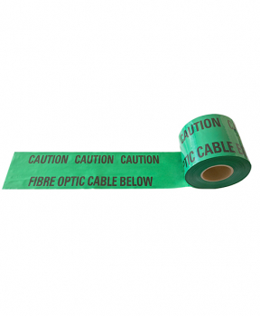 WARNING TAPE 150MM X 365MTR CAUTION FIBRE OPTIC BELOW